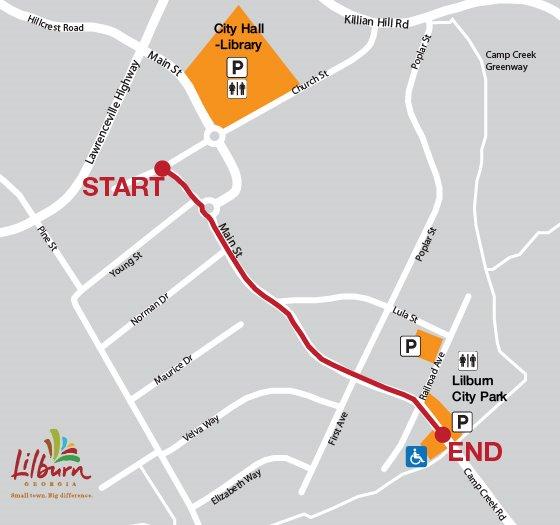 Lilburn Christmas Parade Map