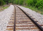 Railroad tracks in Old Town