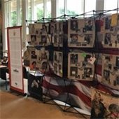 Remembering Our Fallen display
