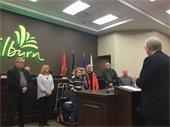 Board Members being sworn in