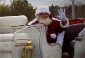 Santa Claus ends the Lilburn Christmas Parade