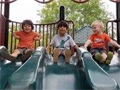 Kids at Lilburn City Park playground