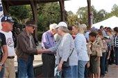 Attendees thanking Veterans