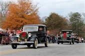 Antique cars in parade