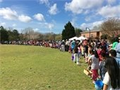 Egg hunt in Lilburn City Park
