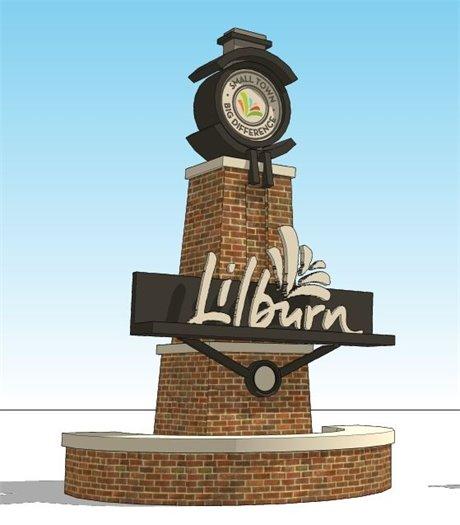 City of Lilburn Gateway Monument Rendering