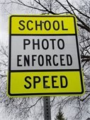 School Photo Enforced Speed sign
