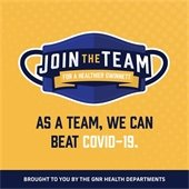 Join the Team for a Healthier Gwinnett graphic with face covering