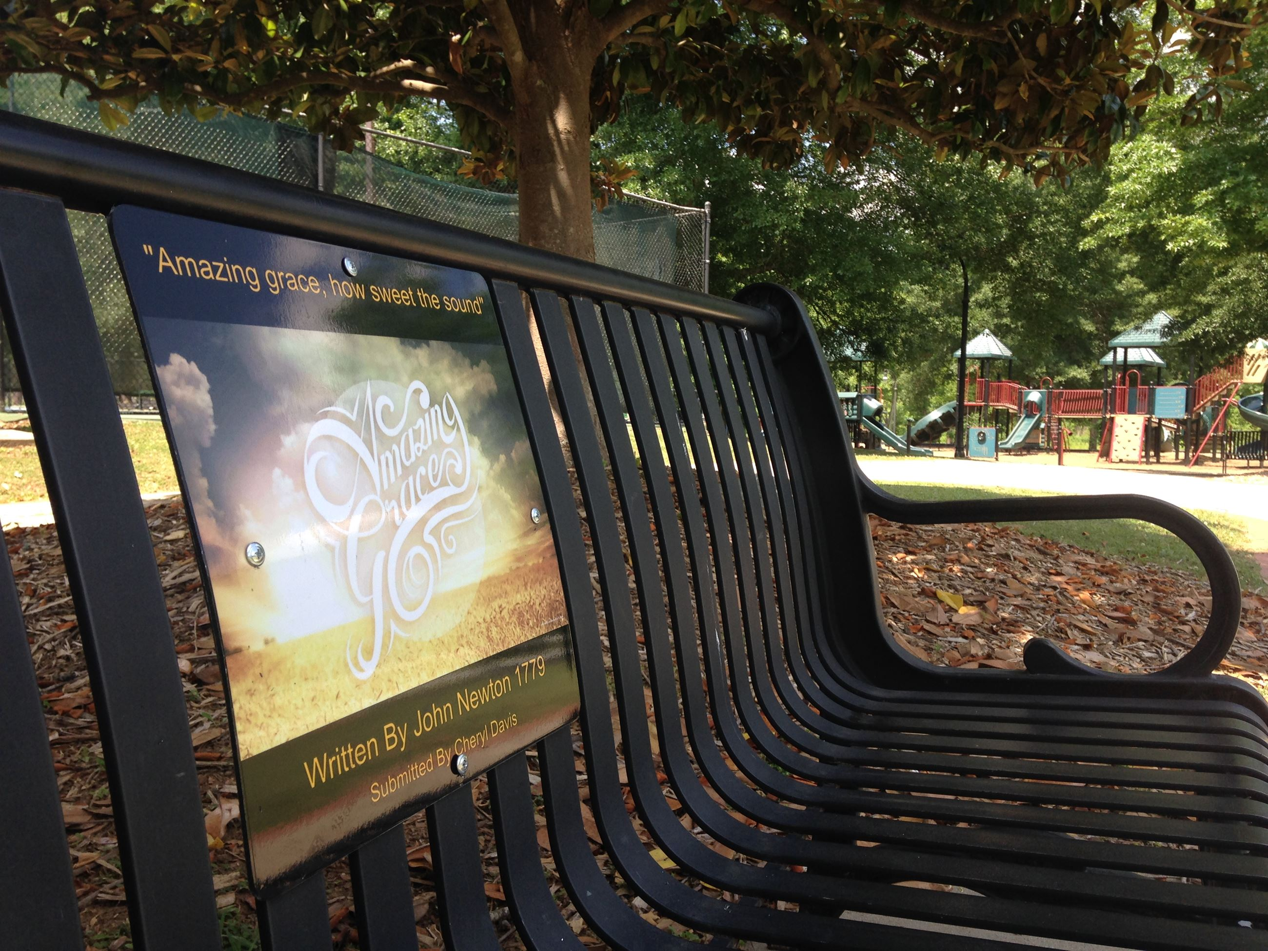 Bench featuring Lilburn Lyrics art project