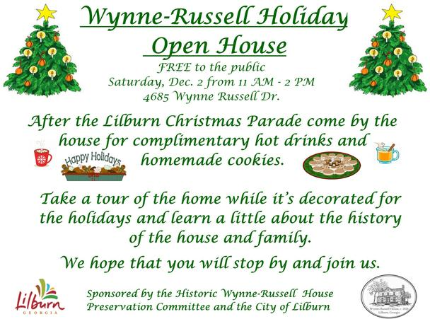 Wynne Russell open house info