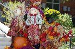 Scarecrow and decorations