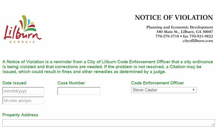 Code Enforcement | Lilburn, GA - Official Website