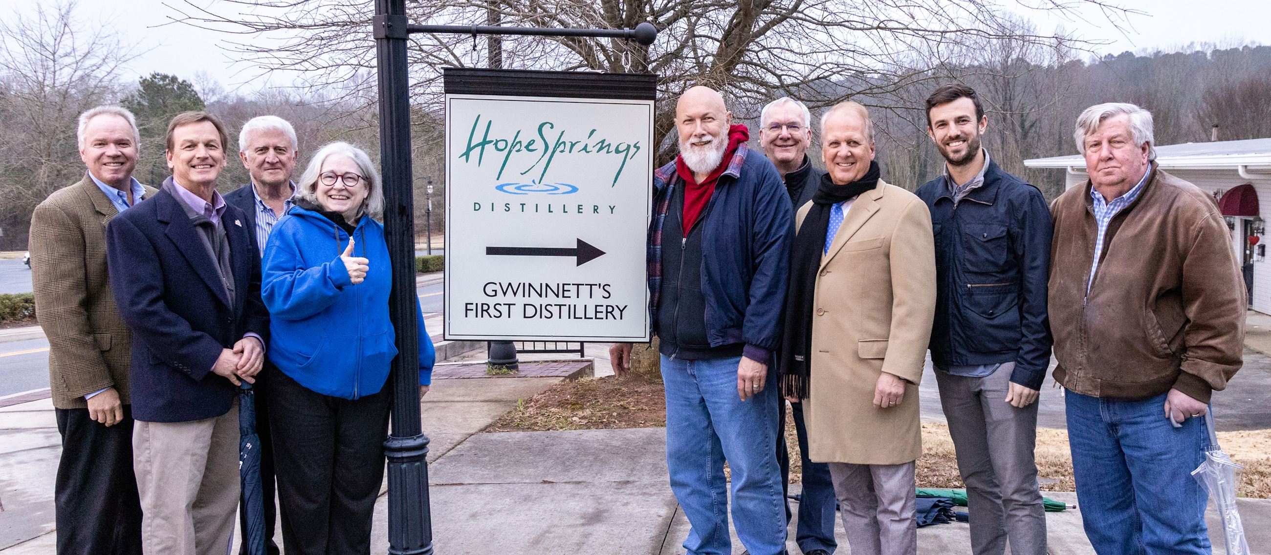 Hope Springs Distillery sign unveiling 2.11.19