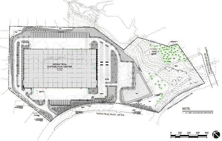 Indian Trail Distribution Center Plan