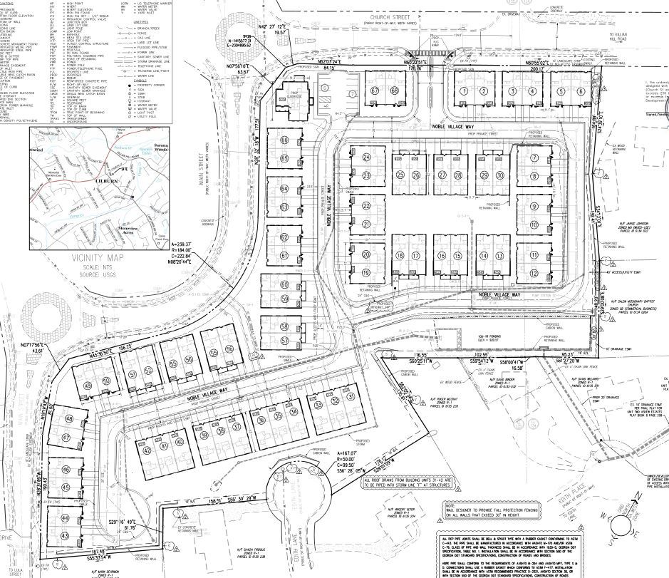 Noble Village site plan